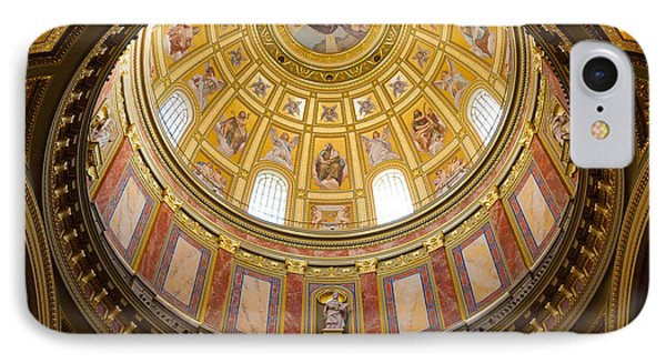 St. Stephen's Basilica Ceiling IPhone Case by Dave Bowman