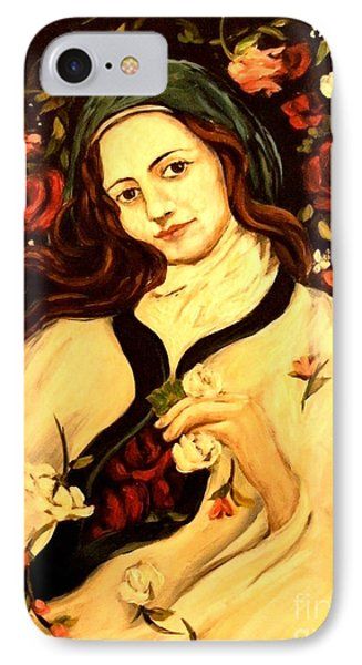 St. Therese Phone Case by Carrie Joy Byrnes