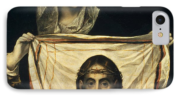 St Veronica With The Holy Shroud IPhone Case by El Greco Domenico Theotocopuli