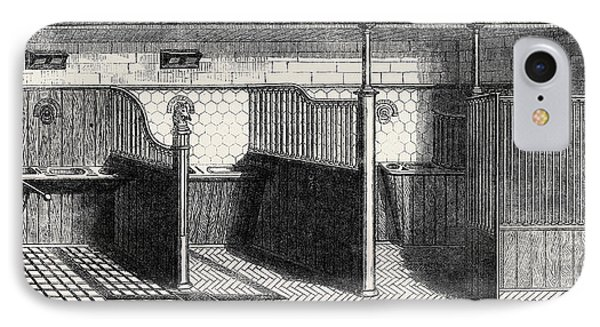 Stable Fittings, Open Stall With Patent Sliding Barrier IPhone Case by Messrs. Musgrave Brothers Of Belfast