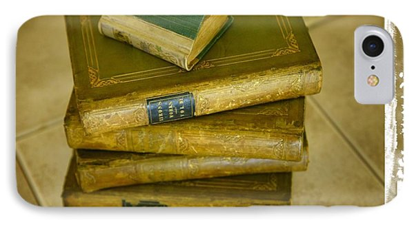 Stack Of Antique Books Phone Case by Don Hammond