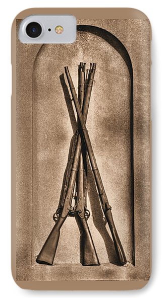 Stacked Musketry No. 1b - Monument To The 151st Pennsylvania Volunteer Infantry At Gettysburg Phone Case by Michael Mazaika