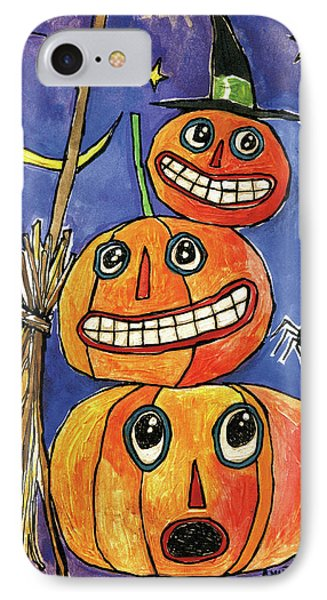 Stacked Pumpkins IPhone Case by Anne Tavoletti
