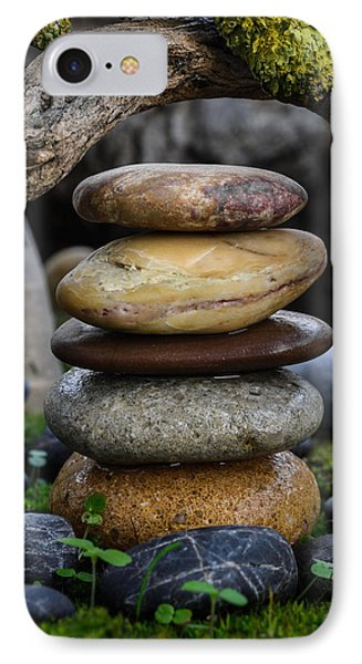 Stacked Stones A5 IPhone Case by Marco Oliveira