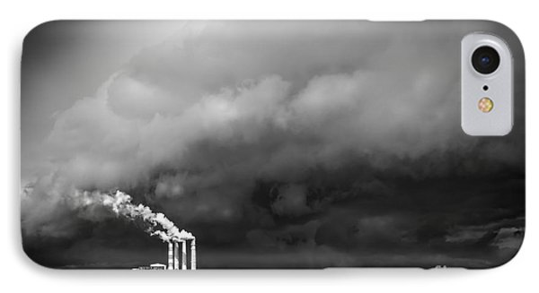 Stacks In The Clouds IPhone Case by Marvin Spates