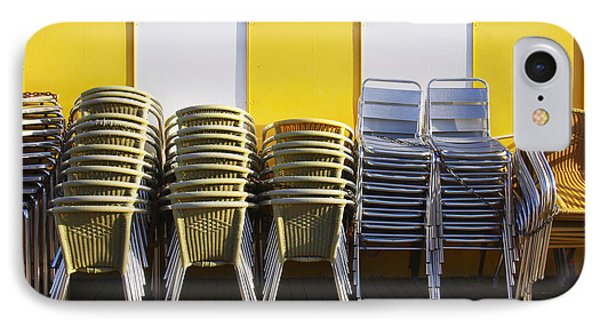 Stacks Of Chairs And Tables Phone Case by Carlos Caetano