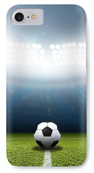 Stadium And Soccer Ball IPhone Case by Allan Swart