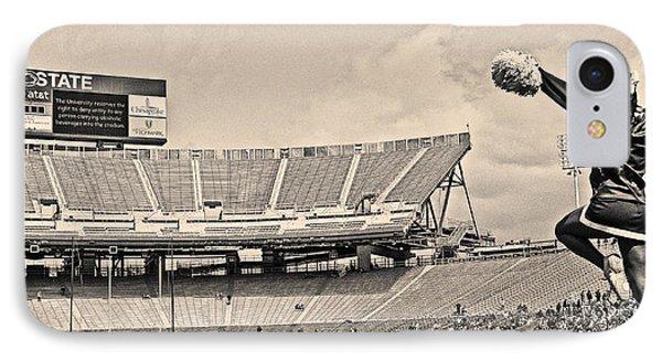 Penn State University iPhone 7 Case - Stadium Cheer Black And White by Tom Gari Gallery-Three-Photography
