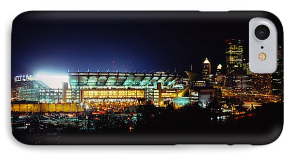 Stadium Lit Up At Night In A City IPhone Case by Panoramic Images
