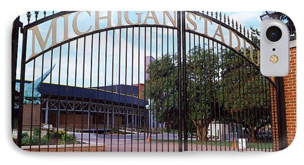 University Of Michigan iPhone 7 Case - Stadium Of A University, Michigan by Panoramic Images