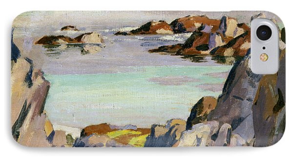 Staffa And Rhum From Iona IPhone Case by Francis Campbell Boileau Cadell
