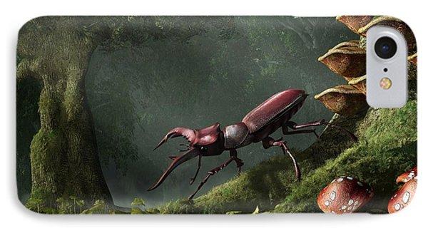 Stag Beetle Phone Case by Daniel Eskridge