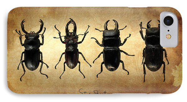 Stag Beetles IPhone Case by Mark Rogan