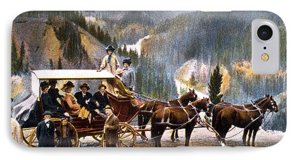Stagecoach Near Upper Falls IPhone Case by NPS Photo Frank J Haynes