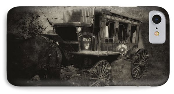 Stagecoach West Antique Textured IPhone Case by Thomas Woolworth
