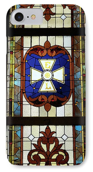Stained Glass 3 Panel Vertical Composite 01 Phone Case by Thomas Woolworth