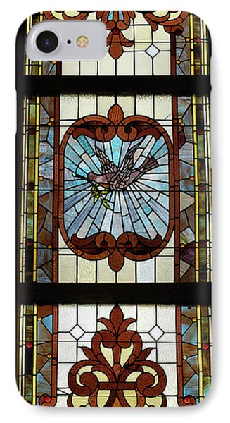 Stained Glass 3 Panel Vertical Composite 03 Phone Case by Thomas Woolworth