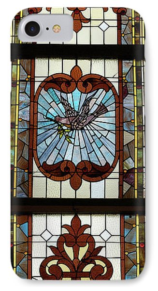 Stained Glass 3 Panel Vertical Composite 05 Phone Case by Thomas Woolworth