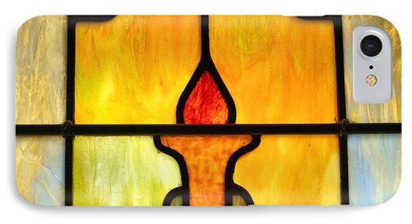 Stained Glass 7 Phone Case by Tom Druin