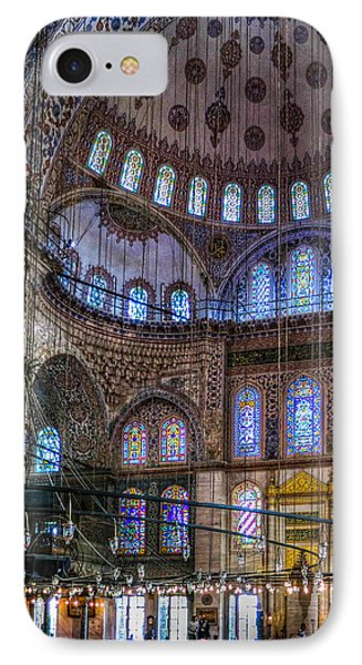 Stained Glass And Dome Of The Sultanahmet Mosque IPhone Case
