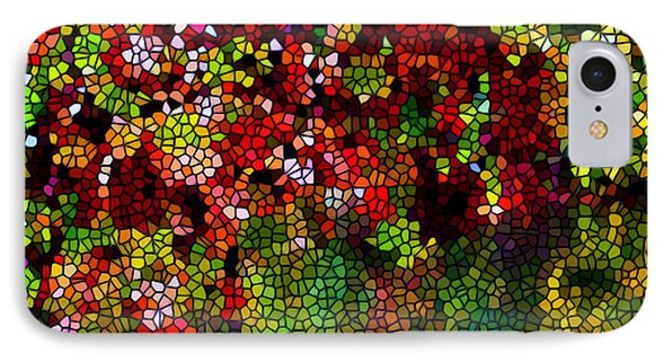 Stained Glass Autumn Leaves Reflecting In Water Phone Case by Lanjee Chee