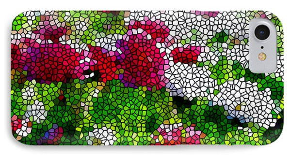 Stained Glass Chrysanthemum Flowers Phone Case by Lanjee Chee