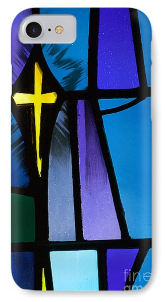 Stained Glass Cross IPhone Case