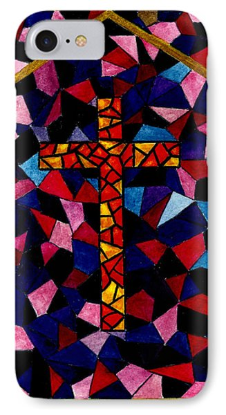 Stained Glass Cross Phone Case by Michael Vigliotti