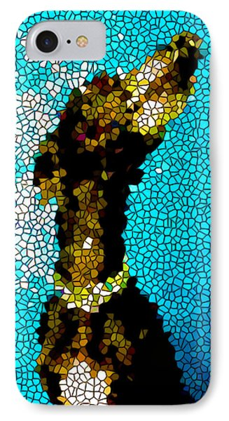 Stained Glass Doberman Pinscher Dog Phone Case by Lanjee Chee