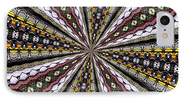 Stained Glass Kaleidoscope 1 IPhone Case by Rose Santuci-Sofranko