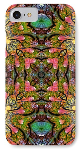 IPhone Case featuring the digital art Stained Glass by Lea Wiggins