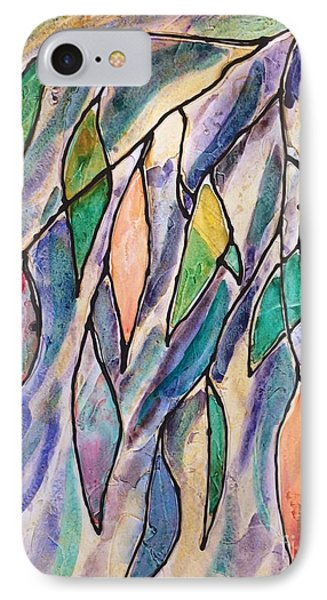 Stained Glass Leaves #2 IPhone Case by Barbara Tibbets