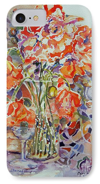 IPhone Case featuring the painting Stained Glass by Mary Haley-Rocks