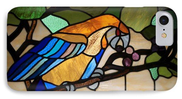 Stained Glass Parrot Window Phone Case by Thomas Woolworth