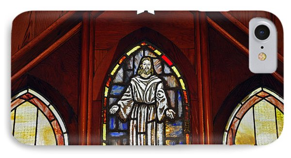 Stained Glass Saviour Phone Case by Al Powell Photography USA