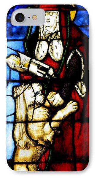 Stained Glass Window C Freiburg Im Breisgau Phone Case by Leone M Jennarelli