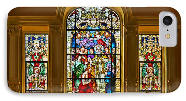 Stained Glass Window Cathedral St Augustine Phone Case by Christine Till