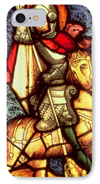 Stained Glass Window Depicting Saint George IPhone Case by German School