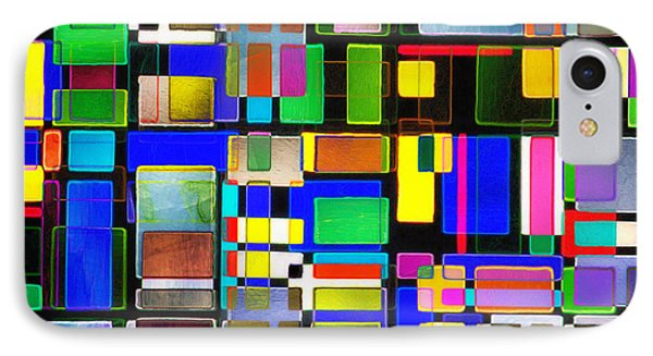 Stained Glass Window II Multi-coloured Abstract Phone Case by Natalie Kinnear