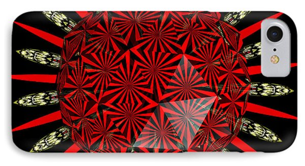 Stained Glass Window Kaleidoscope Polyhedron Phone Case by Rose Santuci-Sofranko