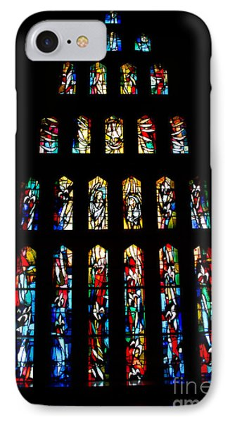 Stained Glass Windows At Basilica Of The Annunciation Phone Case by Eva Kaufman