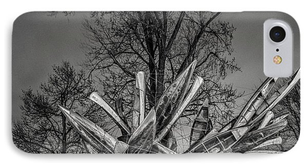 Stainless Steel Aluminum Monochrome I - Bw IPhone Case by Chris Bordeleau