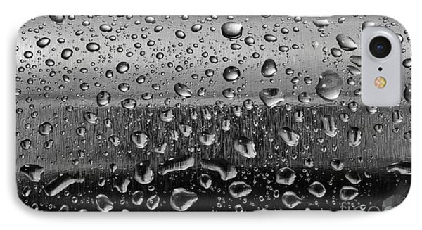Stainless Steel With Water Drops IPhone Case by Michal Bednarek