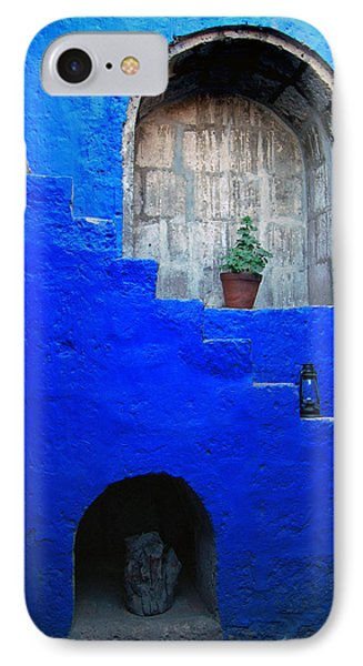 Staircase In Blue Courtyard Phone Case by RicardMN Photography