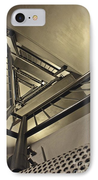 IPhone Case featuring the photograph Stairing Up The Spinnaker Tower by Terri Waters