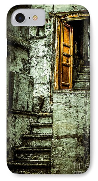 Stairs Leading To The Old Door Phone Case by Catherine Arnas