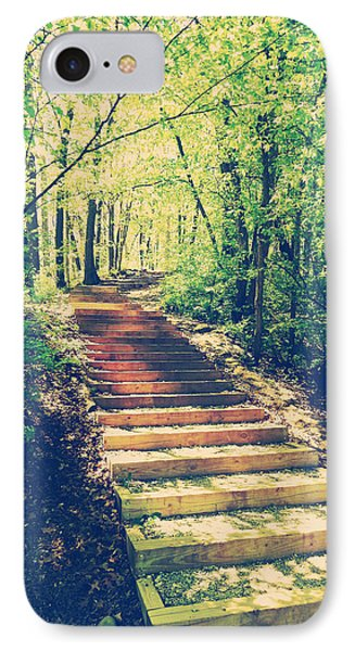 Stairway Into The Forest IPhone Case by Phil Perkins