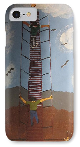 IPhone Case featuring the painting Stairway To Heaven by Jeffrey Koss