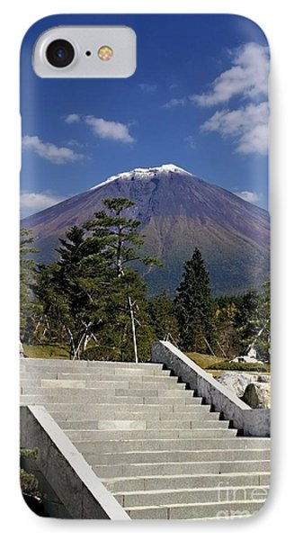 IPhone Case featuring the photograph Stairway To Mt Fuji by Ellen Cotton