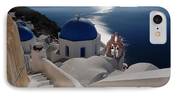 Stairway To The Blue Domed Church IPhone Case by Lucinda Walter